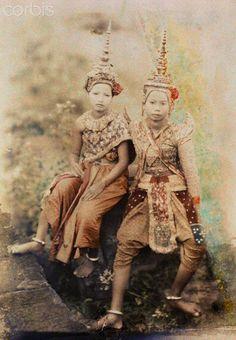 Dancers, ca. July 1927, Angkor Thom, #Cambodia   © Gervais Courtellemont
