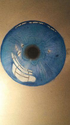 Blue pupil