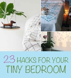 23 Hacks For Tiny Bedrooms!