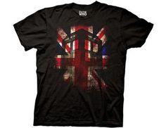 TARDIS Union Jack shirt