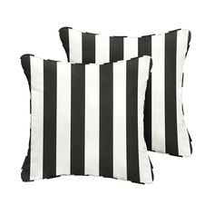 You'll be amazed at the comfort of this set of 2 Sunbrella cabana classic indoor-outdoor throw pillows from Mozaic. The vibrant striped pattern is a fantastic look for the weather-, fade-, and UV-resistant fabric. Each pillow makes a chic fashion statement while also offering maximum support for your back, head, or even feet. Overall Width: 18 inches Overall Height: 18 inches Gender: unisex.