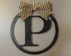 Check out our initial P selection for the very best in unique or custom, handmade pieces from our home & living shops. Initial Wall, Monogram Initials, Home And Living, Handmade, Etsy, Hand Made, Handarbeit