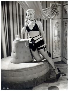 """burleskateer: """" Toni Lamont Featured in a publicity photo from the 1952 film: """"STRIPTEASE HOLD-UP"""".. A Burlesque film with an actual script,– the plot featured a pair of stick-up men robbing hotel guests and forcing them to strip.. Taking it off with..."""