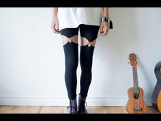 DIY garter leggings founds a new use for all those legging that i habe from last visit to new york