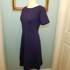 Classic Ann Taylor Cocktail Dress, Navy Blue Zip Up Dress, Size 2 Ann Taylor Dress, Little Navy Dress, Rayon Dress, Spandex Dress, Ann Taylor Fashion, Vintage like new Dress, Class Style Dress