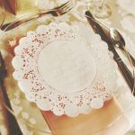 Items similar to Custom hand stamped Doily Wedding Menus by KBatty on Etsy