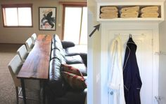 36 tips and tricks for small spaces - Ideas Home Organisation, Diy Organization, Decoration, Small Spaces, Sweet Home, Entryway, New Homes, Living Room, House