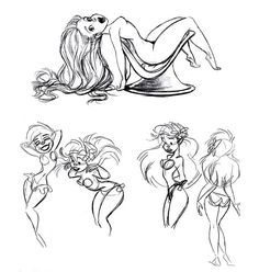 The Art Behind The Magic — Ariel character designs