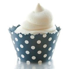 Navy Cupcake Wrappers