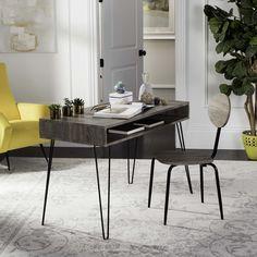 Safavieh Winta 47'' Retro / Black Writing Desk + Chair