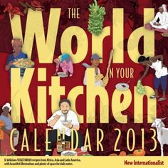 Every month features a favourite vegetarian world food recipe. Amnesty International, Cookery Books, Eat Smart, Uk Shop, Calendar, Earth, World, Illustration, Magazines