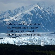 When I saw the mountains, the weight lifted and my restless spirit calmed. I kne… When I saw the mountains, the weight lifted and my restless spirit calmed. I knew I was where I belong. Camping Photography, Mountain Photography, Photography Women, Hiking Quotes, Travel Quotes, Camp Quotes, Sport Quotes, Life Quotes, Medan