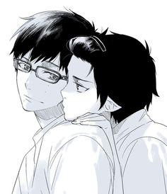 Ao no exorcist   Yukio and Rin   Okumura Brothers