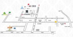 Supertech Orb Sector 74 Noida - Location map