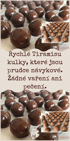 Rychlé Tiramisu kulky, které jsou prudce návykové. Žádné vaření ani pečení. Christmas Sweets, Christmas Candy, Cream Horn Molds, Small Desserts, How Sweet Eats, Party Snacks, Sweet Recipes, Sweet Tooth, Deserts