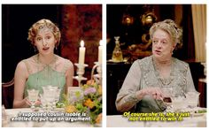 """♢edith crawley ♢laura carmichael ♢violet crawley ♢maggie smith ♢downton abbey ♢s6 ♢spoilers ♢604 ....""""not entitled to win it!"""""""