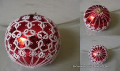Tatting Christmas Balls