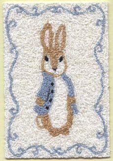 Peter Rabbit Miniature Bunka Rug With