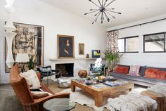 When Homepolish's Erika Yeaman and her family moved into a 1950 midcentury home in Dallas, she expanded the space by 1,500 square-feet and added a flair of family-friendly bohemia.
