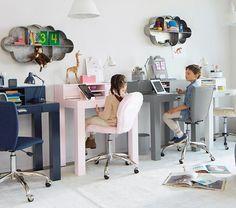 Exciting and Creative Kid's Playroom Ideas – Voyage Afield Ikea Kids Desk, Kids Workspace, Boys Desk, Kid Desk, Ikea Childrens Desk, Desk For Kids, Kids Desk Space, Kids Study Desk, Desk Bed