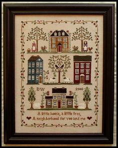 Little House Neighborhood - Little House Needleworks...Beautiful, could also Tole Paint this