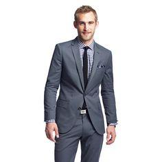 Ludlow suit jacket with double vent in Italian cotton piqué