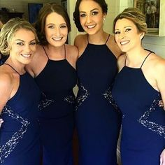 Shop for stylish and modern bridesmaid dresses, prom dresses, engagement dresses and evening dresses online or try on bridesmaid dresses in our New York pop-up showroom. Navy Bridesmaids, Navy Blue Bridesmaid Dresses, Prom Dresses, Formal Dresses, Wedding Dresses, Navy Wedding Colors, White Runway, Evening Dresses Online, Wedding Wear