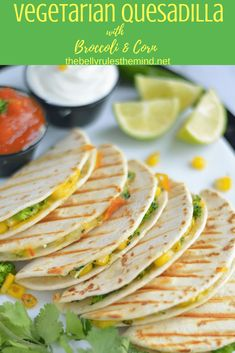How fun are these Vegetarian Quesadilla with Broccoli and Corn ? Broccoli,Corn andCheese are a match made in heaven and putting them in a quesadilla makes it an enticing option for the kids. My kids love the flavor and always ask for more when they are presented with this option.|https://www.thebellyrulestheind.net @bellyrulesdmind #quesadilla #vegetarian  #vegetarianrecipes #mexican #quickandeasy #dinner #lunch #kidsparty #kidfriendly #broccoli  #corn #cheese