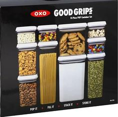 Food Storage Containers 20655: Oxo Good Grips 10-Piece Pop Canister Set -> BUY IT NOW ONLY: $65 on eBay!