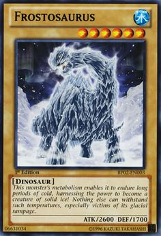 This monster's metabolism enables it to endure long periods of cold, harnessing the power to become a creature of solid ice! Nothing else can withstand such temperatures, especially victims of its glacial rampage.