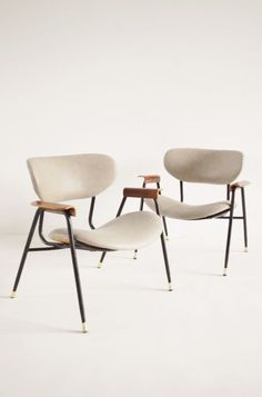 Leather armchairs - Italy 1950s | chair . Stuhl .  chaise | Design: Gastone Rinaldi |