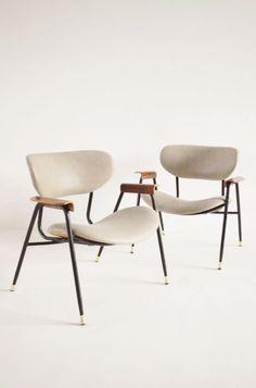 Leather armchairs - Italy 1950s | chair . Stuhl .  chaise | Design: Gastone Rinaldi |