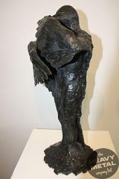 """'Whakamanu"""" (The Transforming Bird) - Heavy Metal for Brett Rangitaawa, Lower Hutt, Wellington. Bronze Sculpture, Lion Sculpture, Metal Workshop, All Design, Heavy Metal, Statue, Bird, Creative, Artist"""