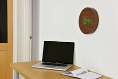 The Innovative Walnut Wall Click Clock // 10 MOST Creative Clocks To Help You Keep Perfect Time