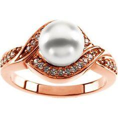 18K Rose Gold Akoya Cultured Pearl and Diamond Ring - 7.50mm Size 8.5 Gems-is-Me, http://www.amazon.com/dp/B009H1JLOO/ref=cm_sw_r_pi_dp_qVThrb1NJFPQQ