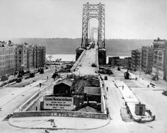 George Washington Bridge Under Construction Washington Heights, Bridge Construction, Fort Lee, Tri State Area, Suspension Bridge, Hudson River, George Washington Bridge, Another World, Old Pictures