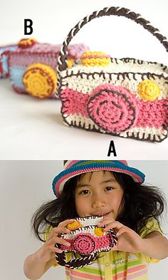 Crochet camera case by Pierrot on Ravelry.