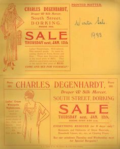 Charles Degenhardt, Dorking. Advert 1933