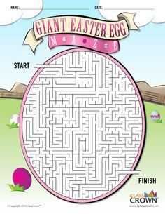 Check out this ClassCrown original Easter egg maze for your students––Free download at TPT!