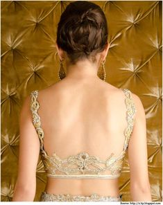 gorgeous saree blouse - pam mehta
