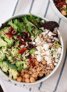 Greek Salad with Broccoli and Sun-Dried Tomatoes - Cookie and Kate