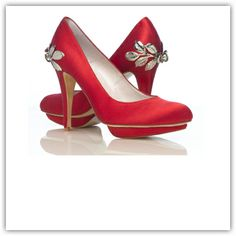 If you want to make the ultimate statement then why not be bold and go for a red shoe. The satin Gardenia Shoe by Harriet Wilde could be the...
