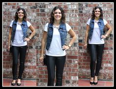 Transitioning Your Denim Vest From Summer To Fall Autumn Summer, Fall, Lemonade, Vodka, Vest, Denim, Jeans, Fashion, Autumn