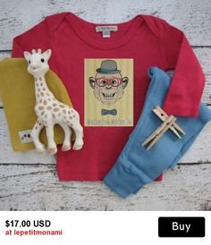 FUNNY BABY CLOTHES,  Monkey See, Monkey Do, Hipster baby clothes, Modern baby clothes, Baby onesies, Baby T shirts, Cute