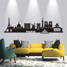 deko-shop-24.de-Wandtattoo-Skyline Paris