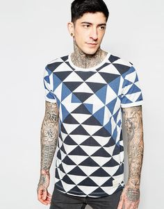 Abstract Boys and Girls All Over Print T-Shirt,Crew Neck T-Shirt,Geometric Cube