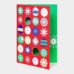 MoMA クリスマスカード グリッタリー オーナメント (8枚セット) : MoMA STOREの通販
