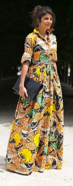 so like the idea of a maxi shirtdress in a beautiful fabric the dress makes a statement and the colours are very vibrant.
