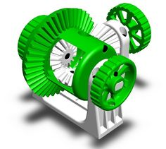 Functional Differential Gear System by Thing-O-Fun.
