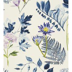 Designers Guild Fabrics Kaori Mokuren F2115-02 Indigo